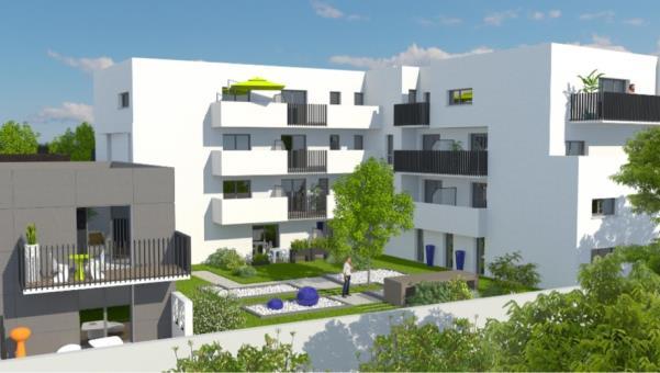 logement neuf COUR INTERIEURE  Toulouse